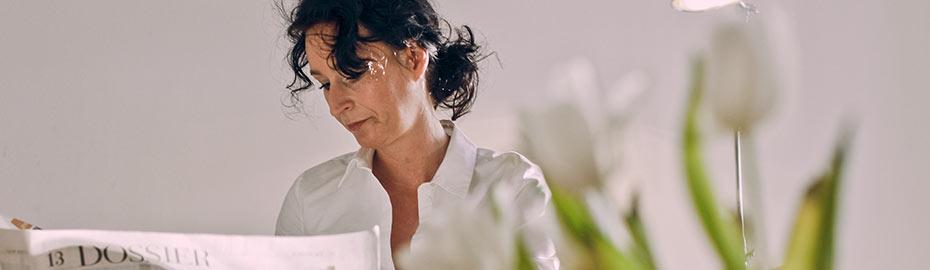 Anja Marowsky unterhält sich im Servicebereich Wildeshausen